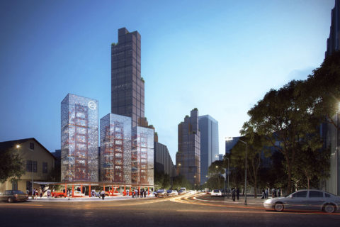 Parking Tower San Rendering