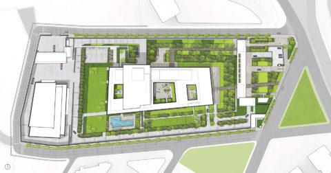 1425 Aerial Plan Courtyard2 Arrow2