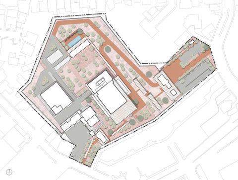 1608  Site Plan Roof Plan Arrow
